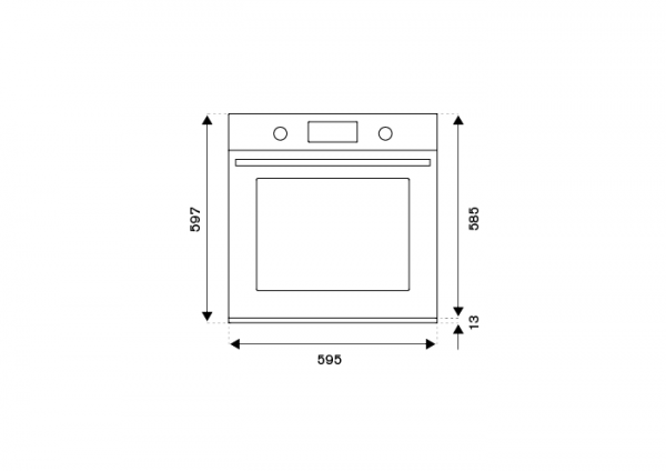 display LCD - Serie Modern Rame