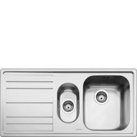 Lavello | Universale | Lavello saldato | Semifilo | Gocciolatoio: Sinistro | Numero vasche: 1 + 1/2 | Acciaio Inox