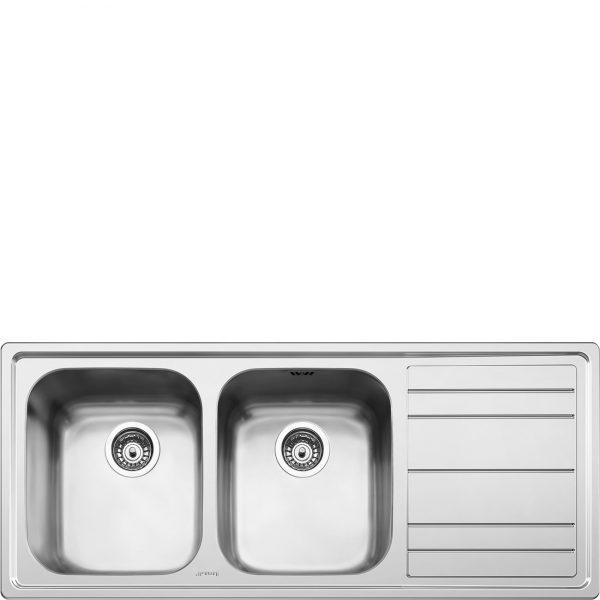 Lavello | Universale | Lavello saldato | Semifilo | Gocciolatoio: Destro | Numero vasche: 2 | Acciaio Inox