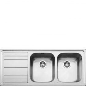 Lavello | Universale | Lavello saldato | Semifilo | Gocciolatoio: Sinistro | Numero vasche: 2 | Acciaio Inox