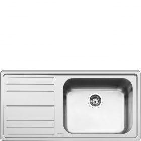Lavello | Universale | Lavello saldato | Semifilo | Gocciolatoio: Sinistro | Numero vasche: 1 | Acciaio Inox