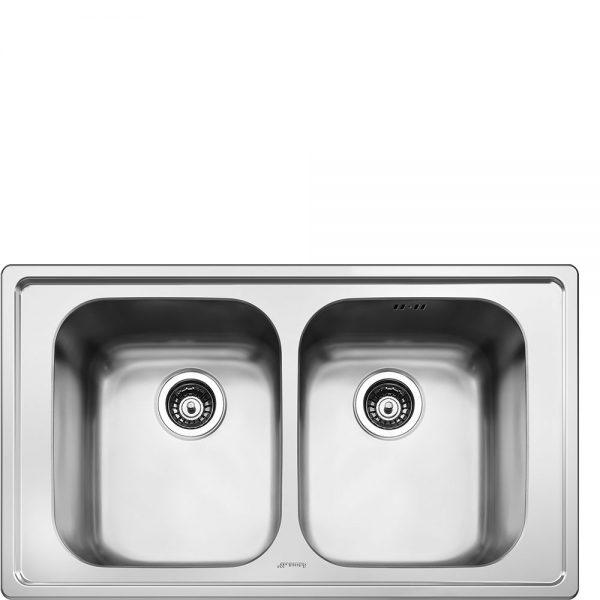 Lavello | Universale | Lavello saldato | Semifilo | Numero vasche: 2 | Acciaio Inox