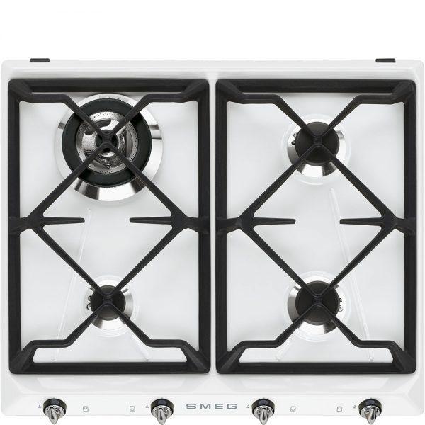 Piano di cottura | Estetica: Victoria | Gas | 60 cm | Bianco | Incasso: Tradizionale