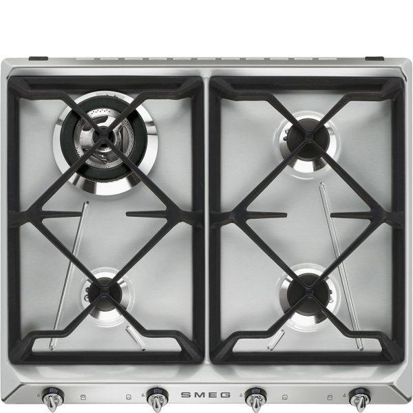 Piano di cottura | Estetica: Victoria | Gas | 60 cm | Acciaio Inox | Incasso: Tradizionale